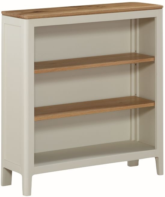 Dunmore Oak and White Painted Low Bookcase