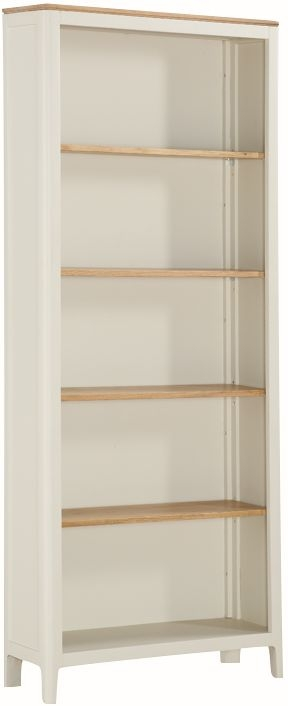 Dunmore Oak and White Painted Tall Bookcase