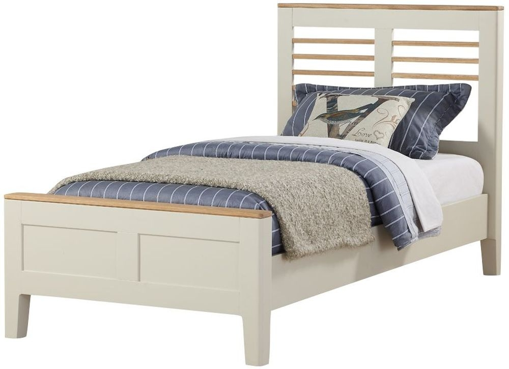 Dunmore 3ft Bed - Oak and Spanish White Painted