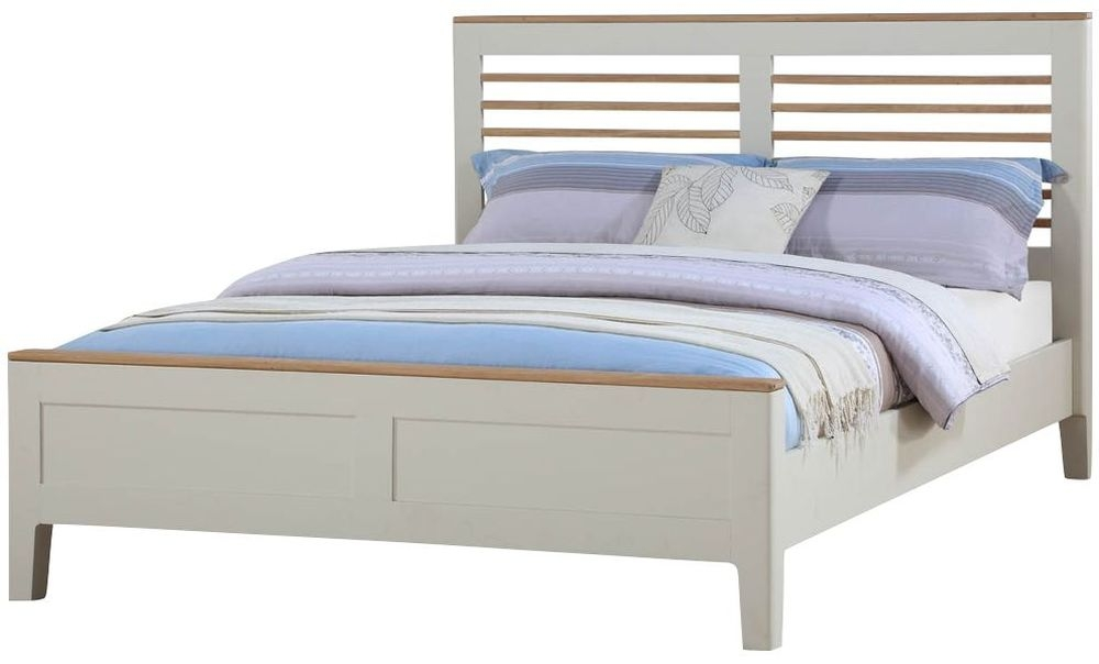 Dunmore 4ft 6in Bed - Oak and Spanish White Painted