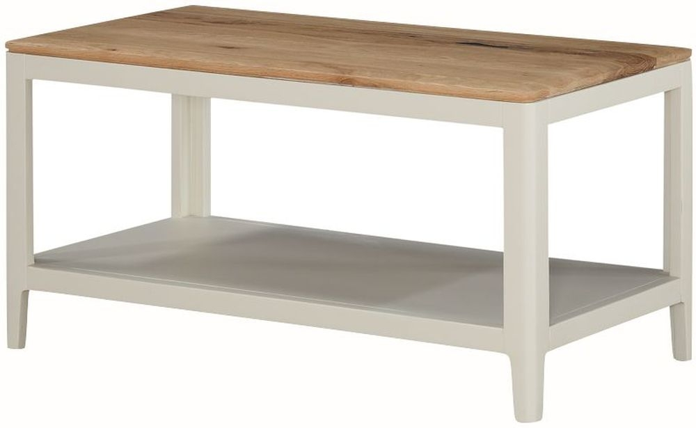 Dunmore Coffee Table - Oak and Spanish White Painted