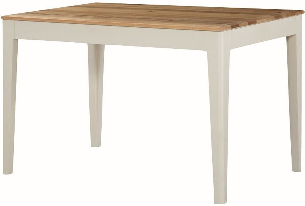 Dunmore Dining Table - Oak and Spanish White Painted