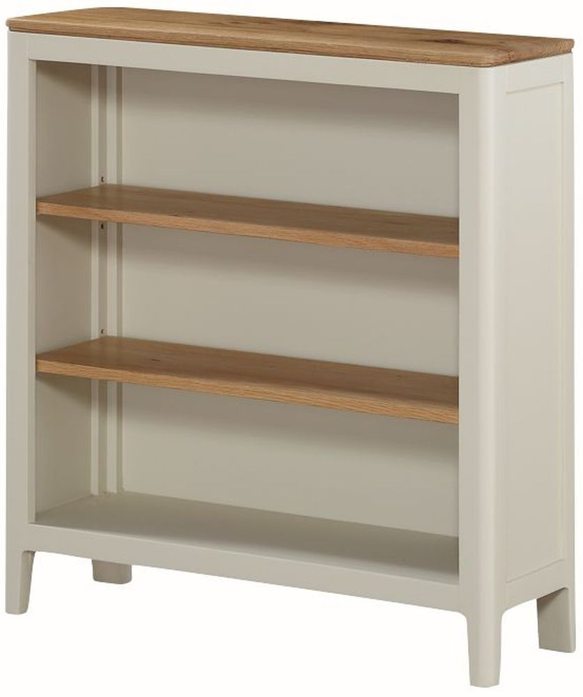 Dunmore Low Bookcase - Oak and Spanish White Painted