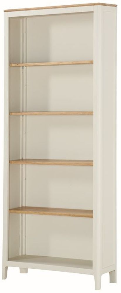 Dunmore Tall Bookcase - Oak and Spanish White Painted