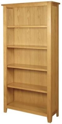Ellington Oak Bookcase - Tall Wide