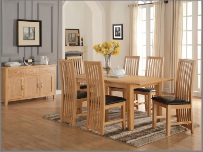Ellington Oak Dining Set - 5ft Extending with 6 Chairs