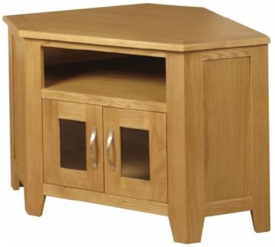 Ellington Oak TV Unit - Corner