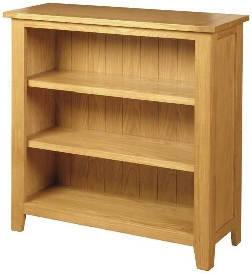Ellington Oak Bookcase - Low Wide