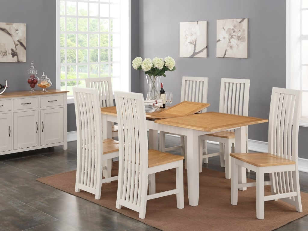 Ellington Painted 5ft Extending Dining Set With 6 Chairs