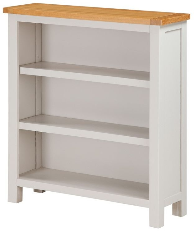 Ellington Painted Wide Bookcase - Low