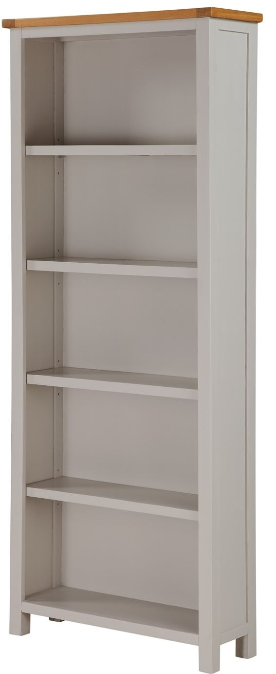 Ellington Painted Wide Bookcase - Tall