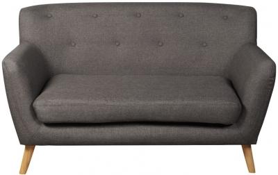 Eton Dark Grey Fabric 2 Seater Sofa