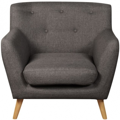 Eton Dark Grey Fabric Armchair