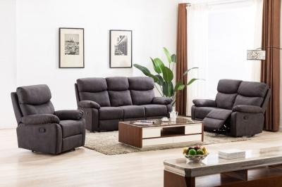 Prescot Grey Fabric Sofa Suite