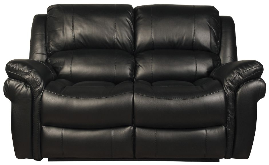 Farnham Black Leather 2 Seater Sofa