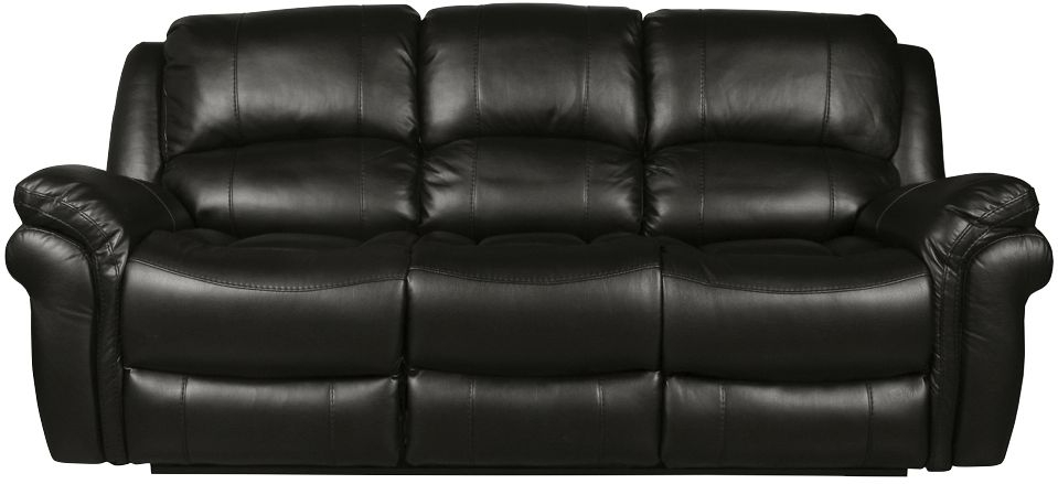 Farnham Black Leather 3 Seater Sofa