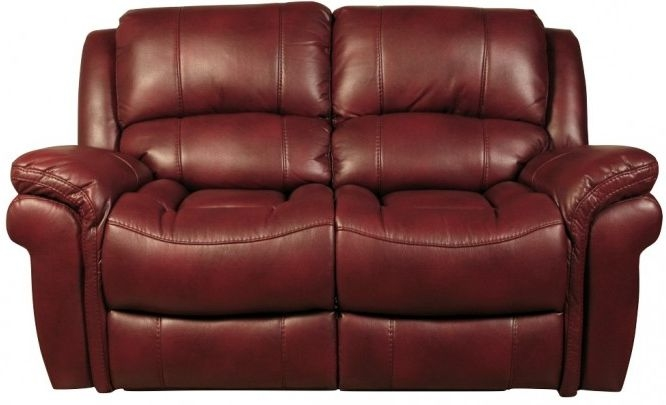 Farnham Burgundy 2 Seater Sofa