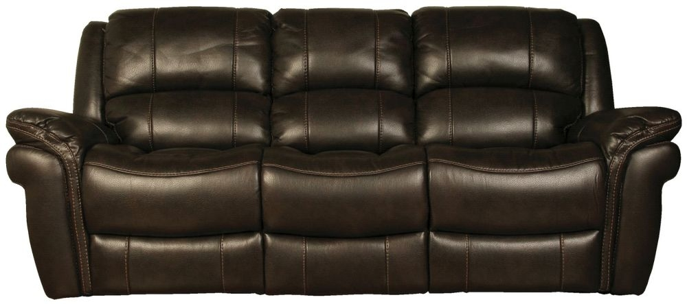 Farnham Chocolate Leather 3 Seater Sofa