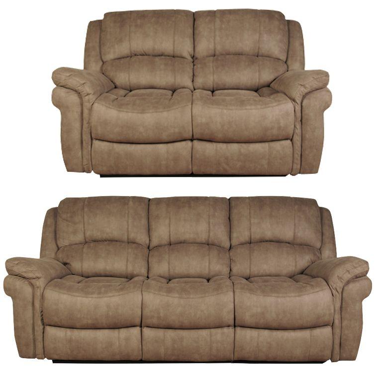 Farnham Taupe Leather 3+2 Sofa Suite