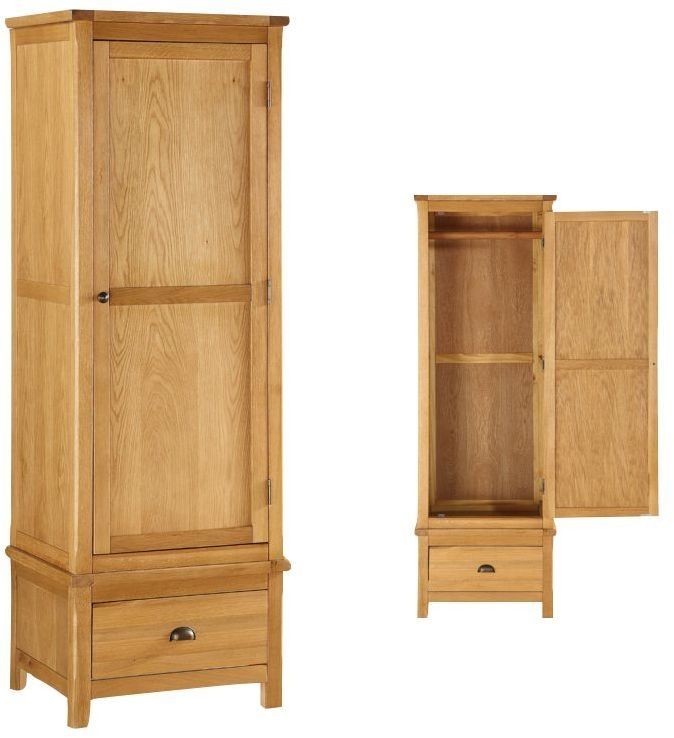 Glenbrook Oak 1 Door Wardrobe