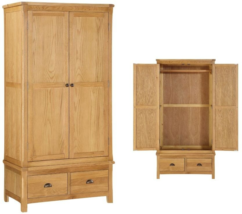 Glenbrook Oak 2 Door Wardrobe