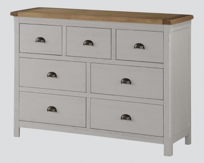 Glenbrook 3+4 Drawer Chest - Oak and Grey Painted