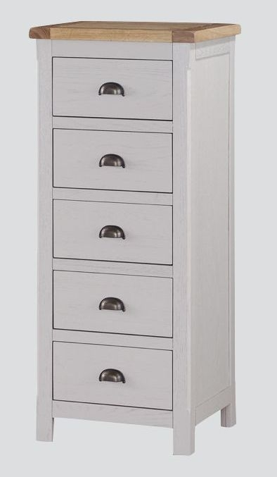 Glenbrook 5 Drawer Chest - Oak and Grey Painted