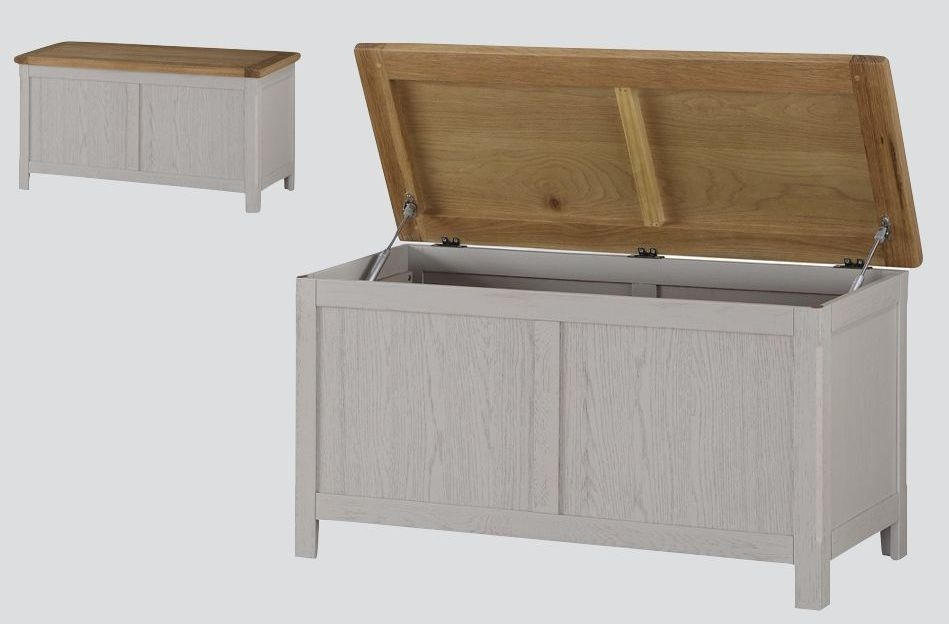 Glenbrook Blanket Box - Oak and Grey Painted