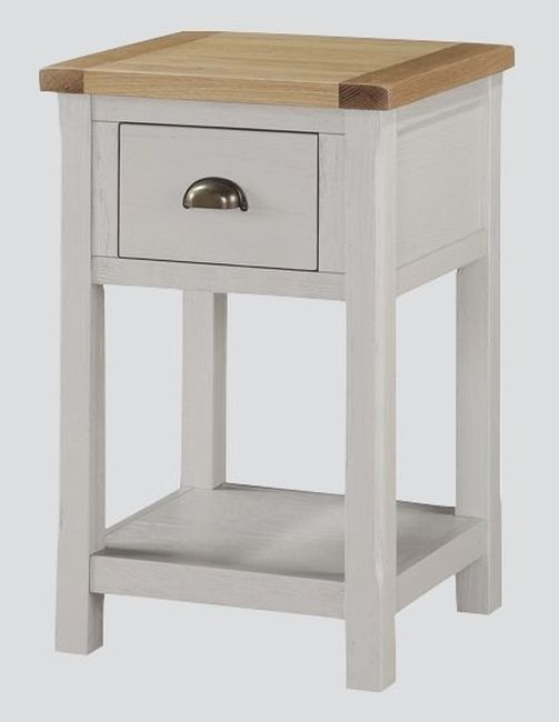 Glenbrook Nightstand - Oak and Grey Painted
