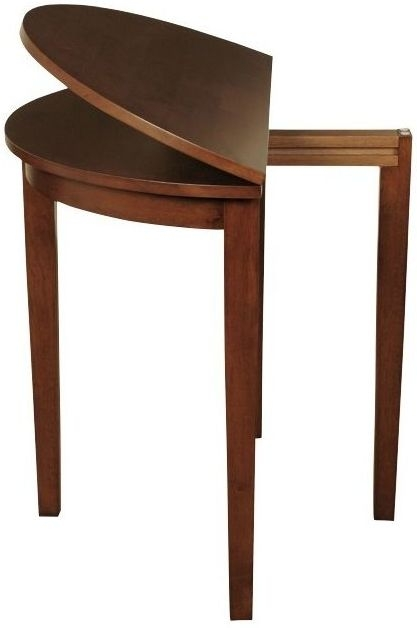 Hanover Dark Round Extending Half Moon Dining Table - 45cm-90cm