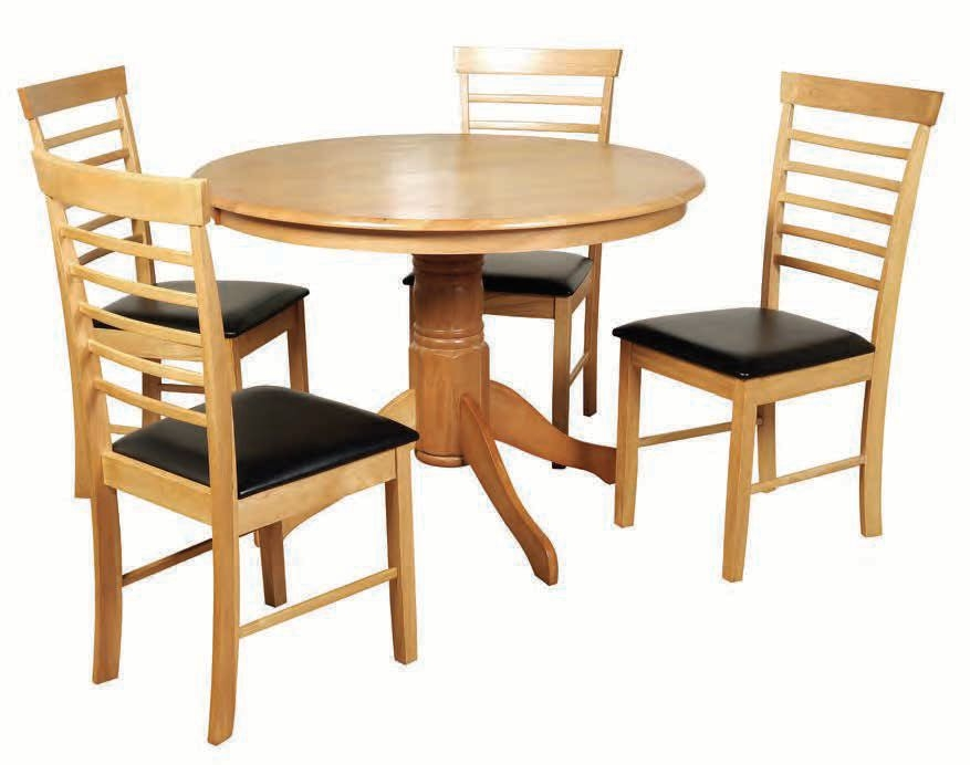 Hanover Round Dining Set with 4 Chairs - 107cm