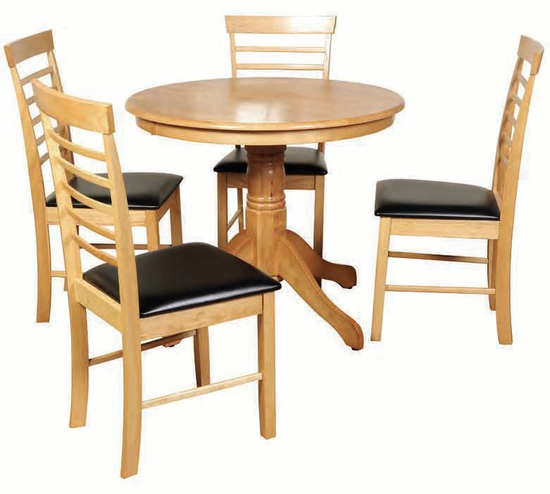 Hanover Round Dining Set with 4 Chairs - 90cm