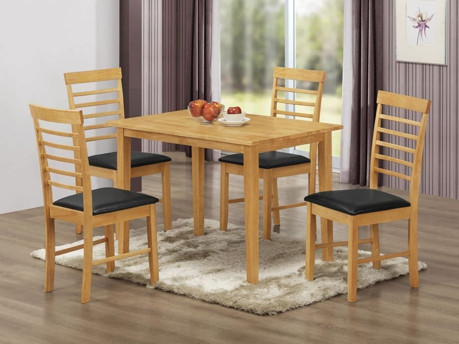 Hanover Rectangular Dining Set with 4 Chairs - 110cm