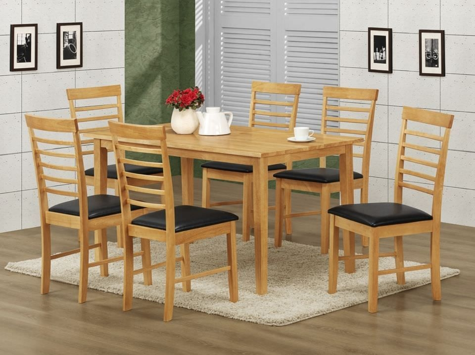 Hanover Rectangular Dining Set with 6 Chairs - 140cm
