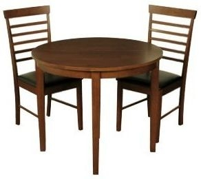 Hanover Dark Dining Set - Half Moon with 2 Chairs