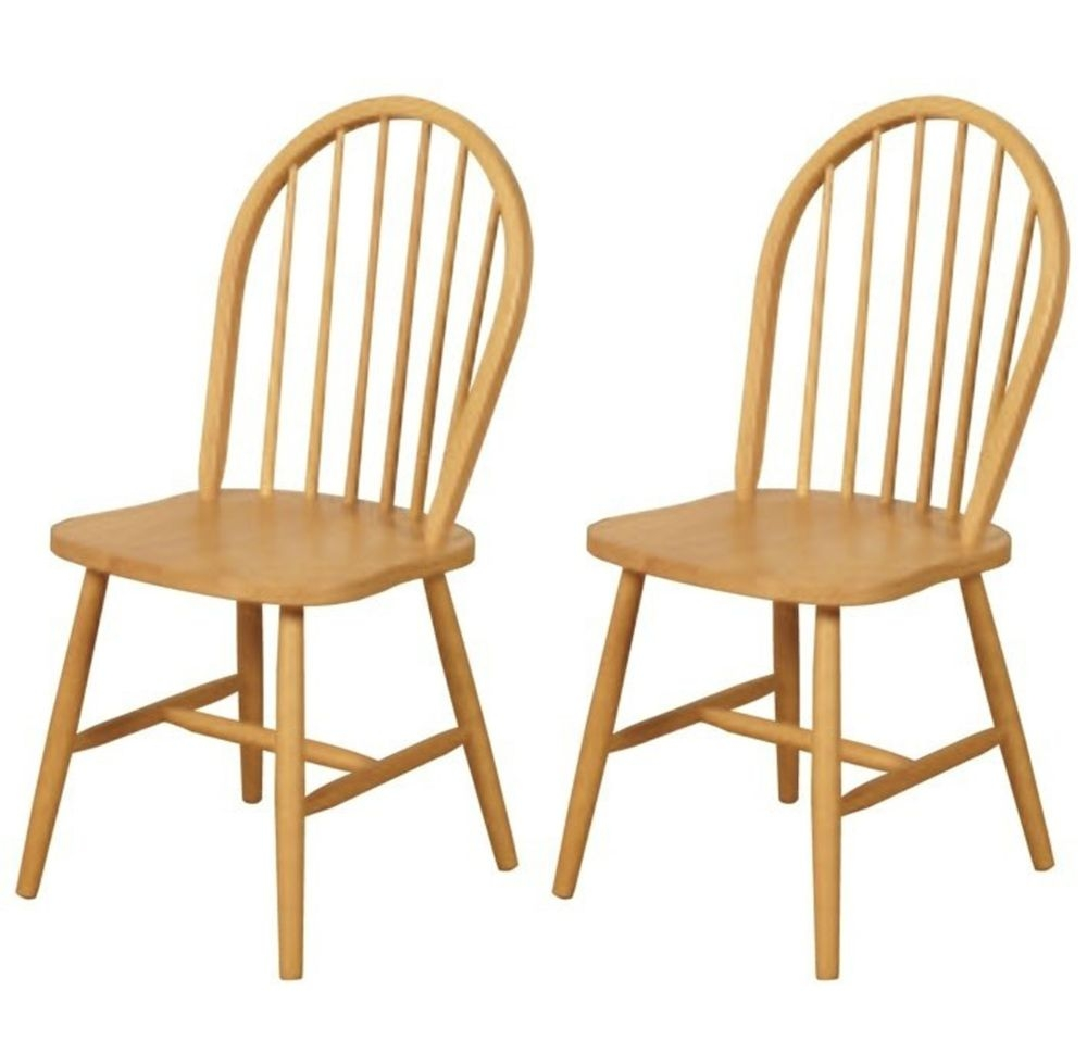 Hanover spindleback country kitchen dining chair pair for Kitchen chairs