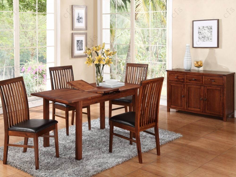 Hartford Acacia 4ft Dining Set with 4 Strathmore Chairs