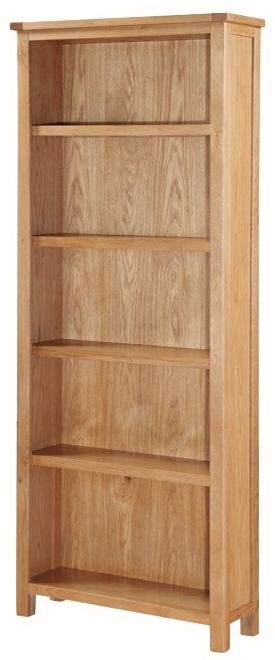 Hartford City Oak Bookcase - Tall