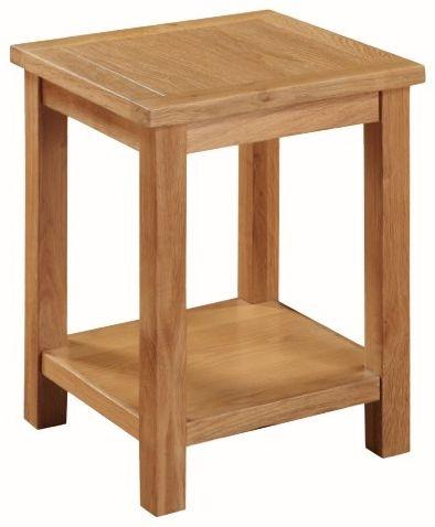 Hartford City Oak Lamp Table