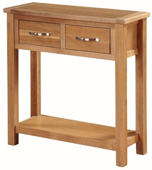 Hartford City Oak Large Console Table