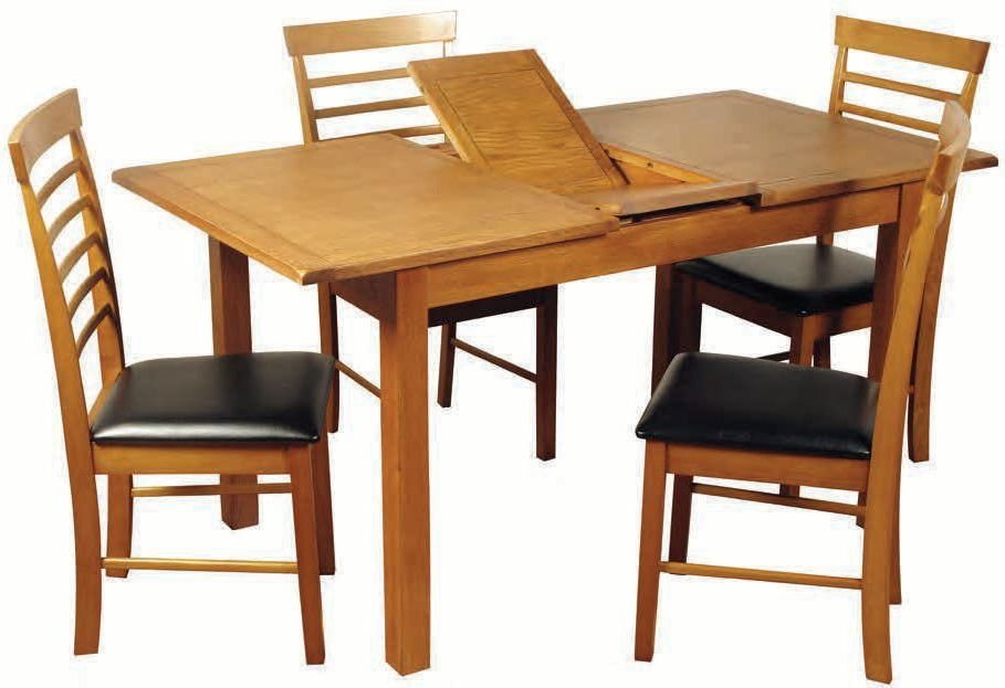 Hartford Country Oak Dining Set - 4ft Extending with 4 Chairs