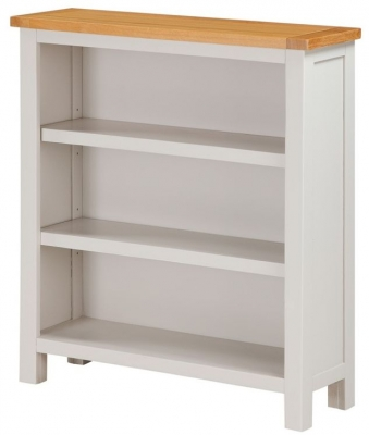 Hartford Low Bookcase - Oak and Painted