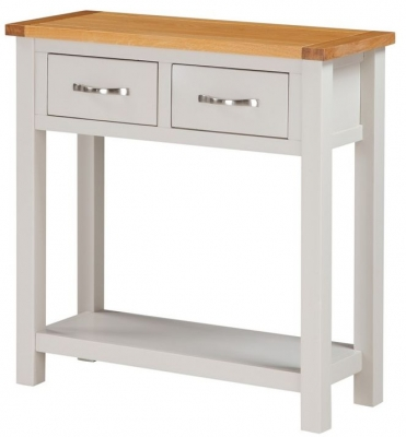 Hartford Large Console Table - Oak and Painted