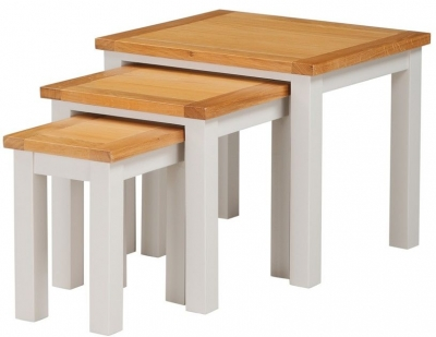 Hartford Nest of Tables - Oak and Painted