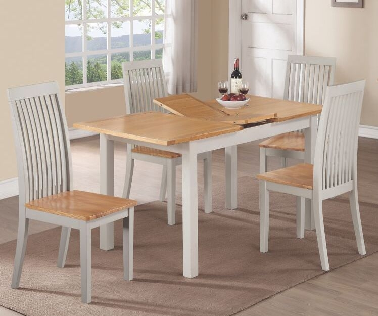 Hartford Butterfly Extending Dining Table - Oak and Painted