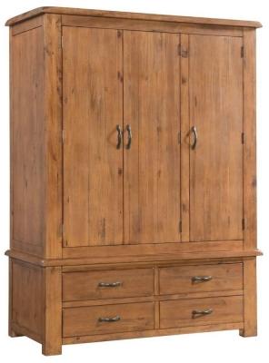 Henley Pine Wardrobe - Triple