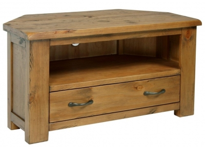 Henley Pine TV Unit-  Corner