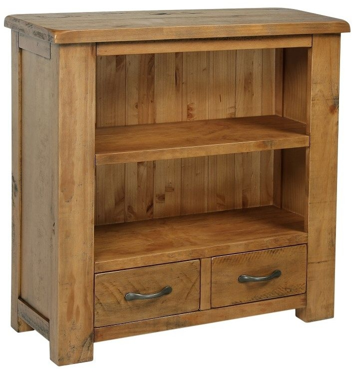 Henley Pine Bookcase - Low