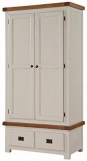 Heritage Stone Painted Wardrobe - 2 Door
