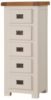 Heritage Stone Painted 5 Chest of Drawer